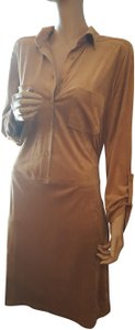 Max Studio short dress camel on Tradesy