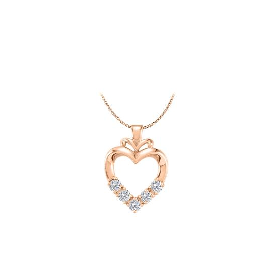 Preload https://img-static.tradesy.com/item/22520153/white-rose-14k-gold-vermeil-5-stone-cz-family-heart-pendant-necklace-0-0-540-540.jpg