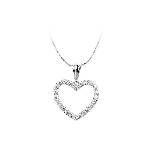 Preload https://img-static.tradesy.com/item/22520171/white-silver-925-sterling-full-cz-accented-heart-pendant-necklace-0-0-540-540.jpg