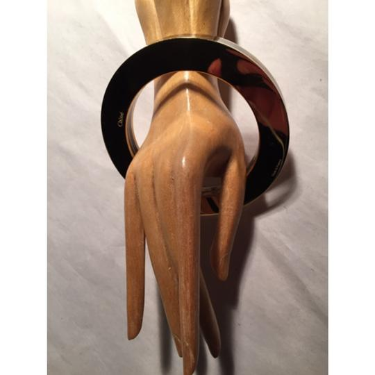 "Chloé pre-loved authentic CHLO lucite & 24k gold plated ""SANDWICH"" bangle bracelet bracelet"
