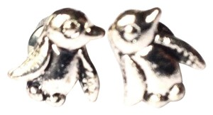 BCBGeneration penguin birds studs vintage silver earrings
