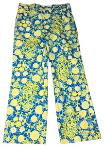 Lilly Pulitzer Trouser Pants Yellow and Blue