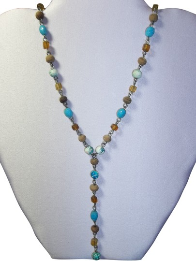 Preload https://item4.tradesy.com/images/handmade-handmade-necklace-in-tanbronzejadeturquoise-in-beads-of-roundcylinderoval-2252058-0-1.jpg?width=440&height=440