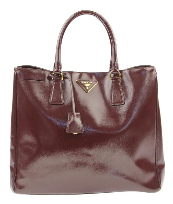 Item - Convertible Burgundy Patent Leather Tote