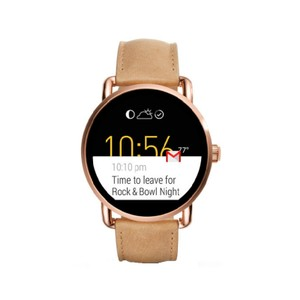 Fossil Fossil Q Gen 2 Wander Light Brown Leather Strap Smart Watch FTW2102