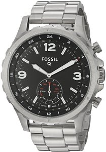 Fossil Fossil Q Men's Nate Stainless Silver Tone Steel Smart Watch FTW1123