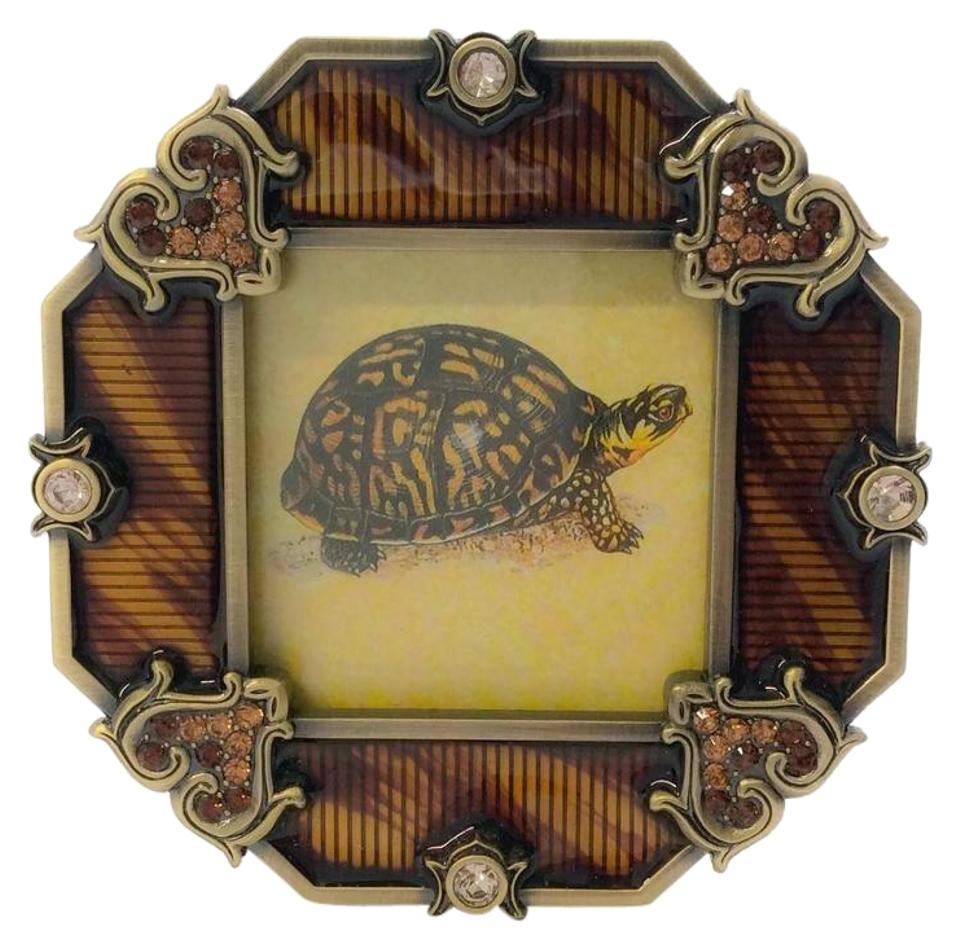 Jay Strongwater Brown Small Enamel Frame with Swarovski Crystals ...