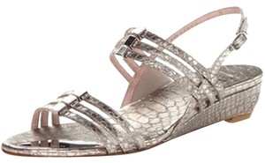 Stuart Weitzman Strawberry Fields Silver Sandals