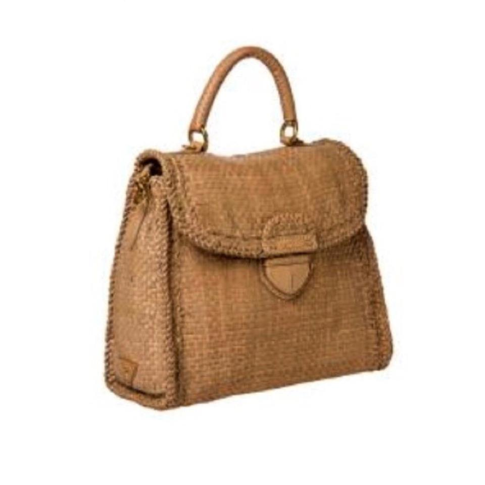 34da98ba61e6 Prada Woven Goatskin Designer High End Crossbody Satchel in Nude Image 0 ...