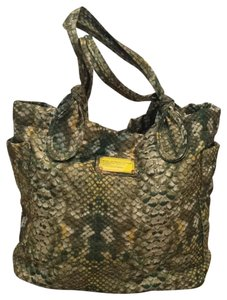Marc by Marc Jacobs Tote in green/beige/yellow