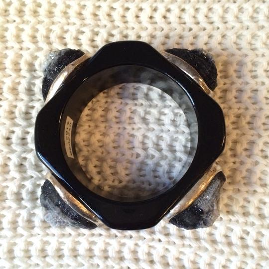 Other Vintage crystal Wood Black Bangle