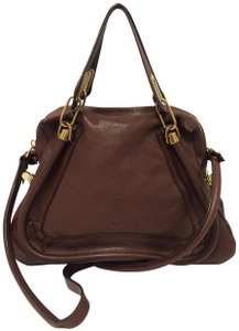 Chloé Leather Paraty Medium Satchel in Brown