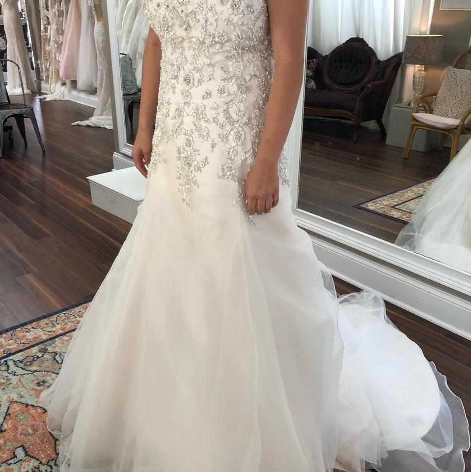 Maggie Sottero Ivory With Light Gold Tulle Ladonna