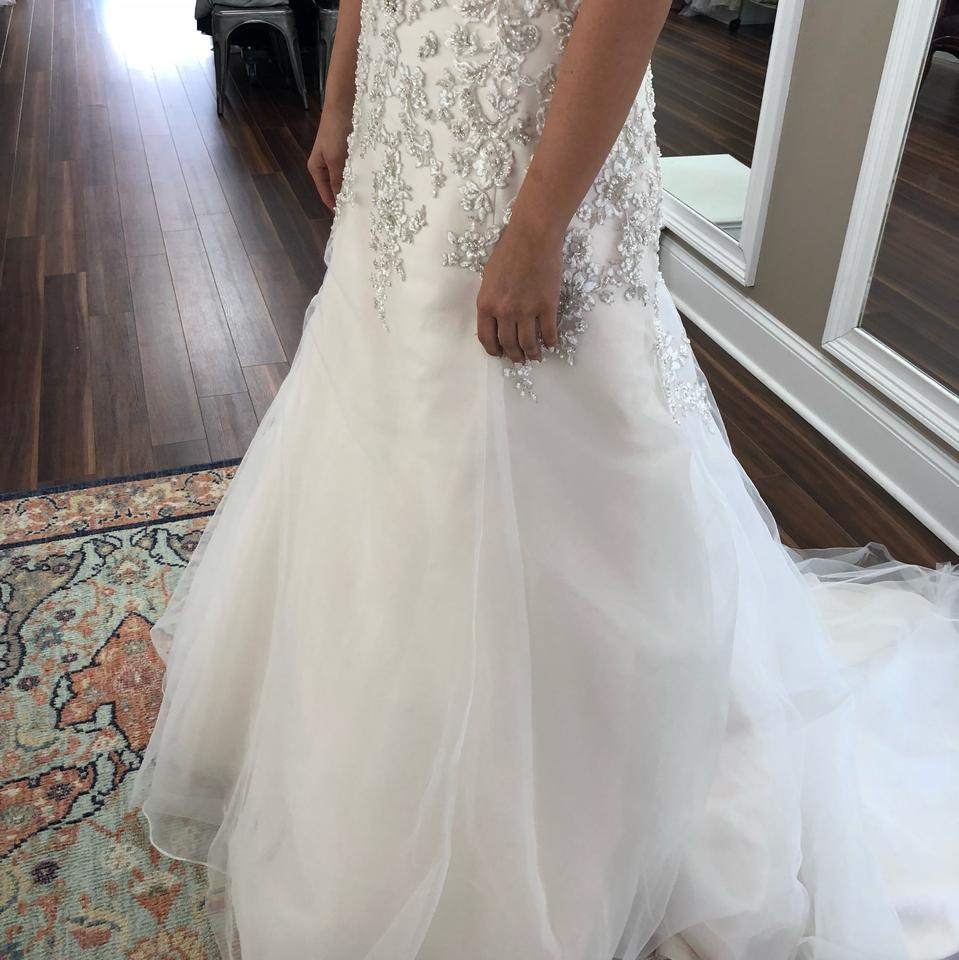 Maggie Sottero Ivory with Light Gold Tulle Ladonna Traditional ...