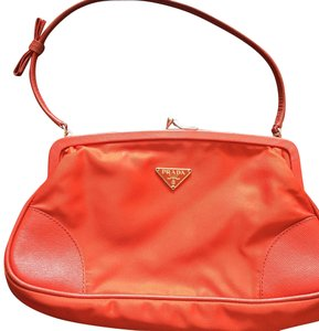 Prada orange Clutch