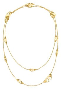 Tory Burch New Tory Burch Gemini Link Convertible Necklace (Wrappable) 16k Gold