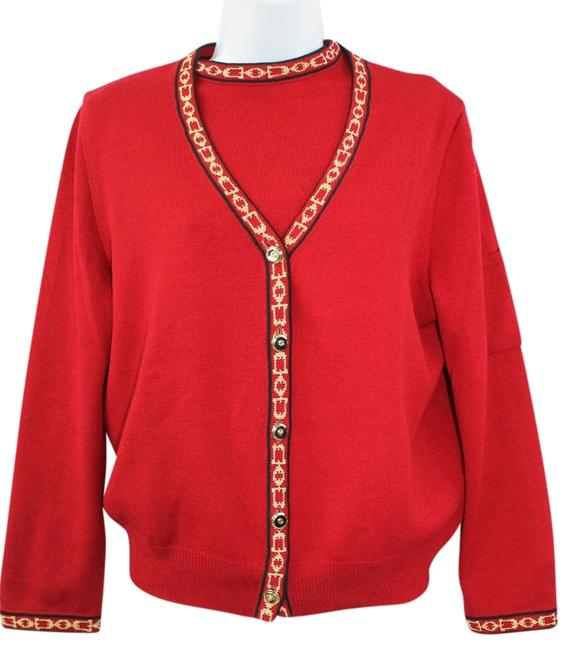 Preload https://item2.tradesy.com/images/st-john-red-collection-santana-knit-twinset-m-cardigan-size-8-m-2252176-0-0.jpg?width=400&height=650