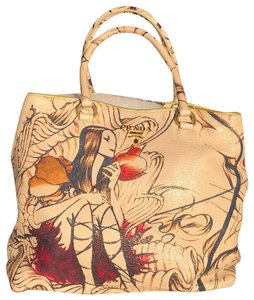 8b9e5e2470 Prada Fairy Cervo Leather Rare Tote in Ivory