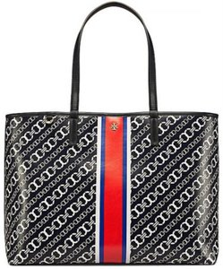 Tory Burch Tote in Navy, White and Red