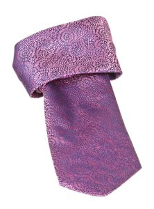 PINK Pink Blue And Pink Printed Silk Tie