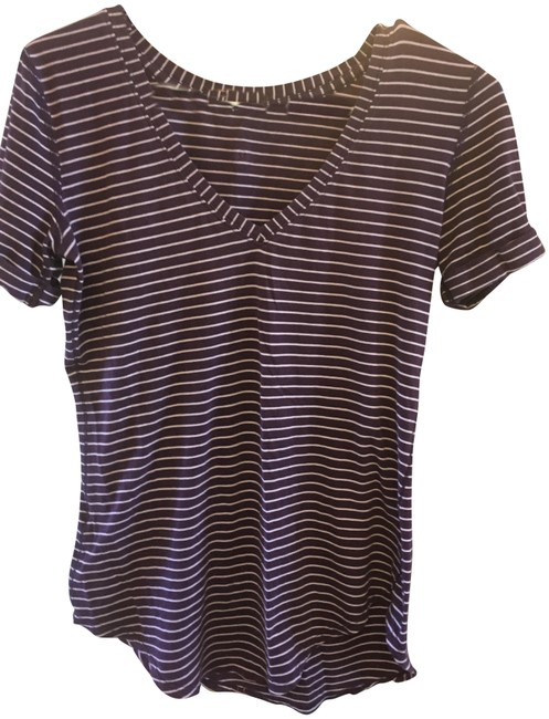 Item - Purple with Small White Stripes Love Tee Shirt Size 4 (S)