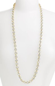 Givenchy Crystal Station Long Necklace in Gold