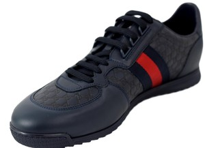 Gucci Blue Men's 233334 Leather Gg Guccissima Trainers 10.5 Shoes
