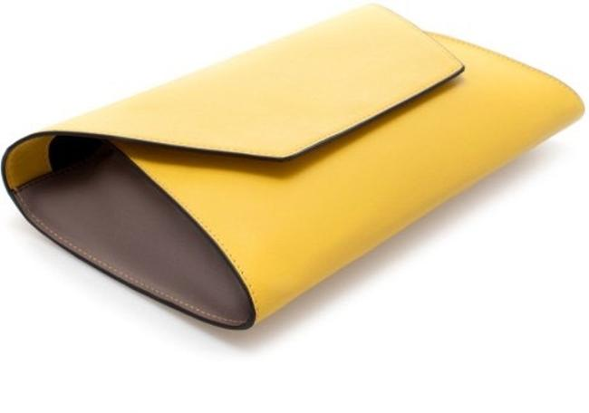 Item - Envelope Yellow Leather Clutch