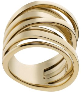 Michael Kors size 6 NWT MICHAEL KORS GOLD TONE INTERTWINED RING MKJ25977106