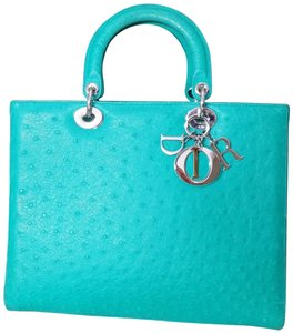 Dior Lady Large Purse Lady Patent Tote in Emerald green