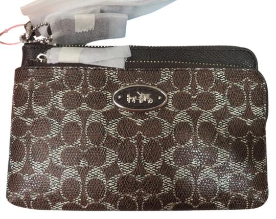 Coach COACH WRISTLET IN SIGNATURE COATED CANVAS, Coach phone wallet