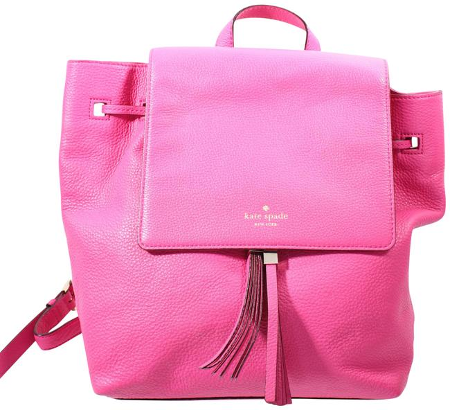 Item - Pink Leather Backpack