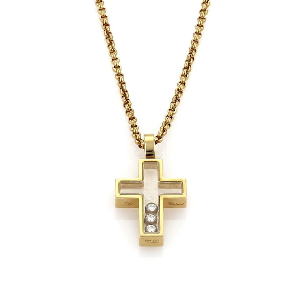 Chopard yellow gold happy diamonds 18k cross pendant necklace tradesy chopard happy diamonds 18k yellow gold cross pendant necklace audiocablefo
