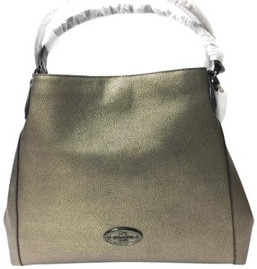 Coach Edie 33520 Metallic Leather Shoulder Bag