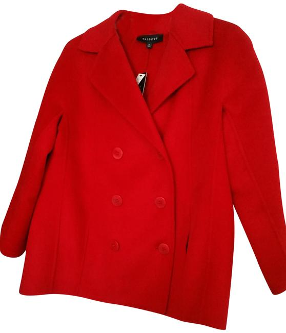 Item - Blood Red Wool with Slash Jacket Size 10 (M)