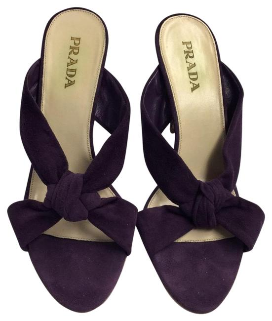 Item - Purple Suede Mules/Slides Size US 7.5 Regular (M, B)