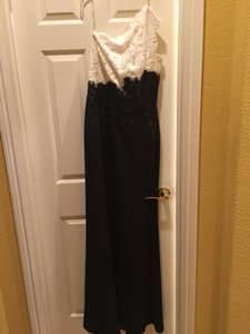 Tadashi Shoji Black And White Sequins Dress