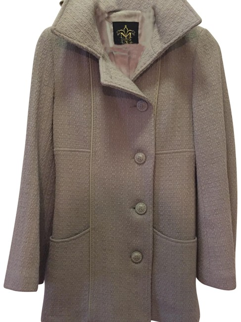 Item - Grey - Wool and Genuine Leather - Coat Size 0 (XS)