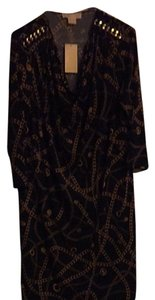 Michael by Michael Kors short dress Black And Light Gold on Tradesy