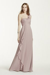 David's Bridal Pewter David's Bridal Bridesmaid Dress Dress