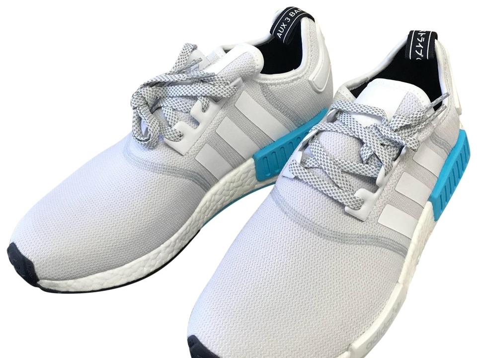 7ee7847f308 adidas White Bright Cyan Blue Nmd R1 Runner Nomad Boost S31511 Sneakers  Size US 11 Regular (M, B)