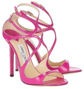 Jimmy Choo Lang Patent Leather PINK Sandals
