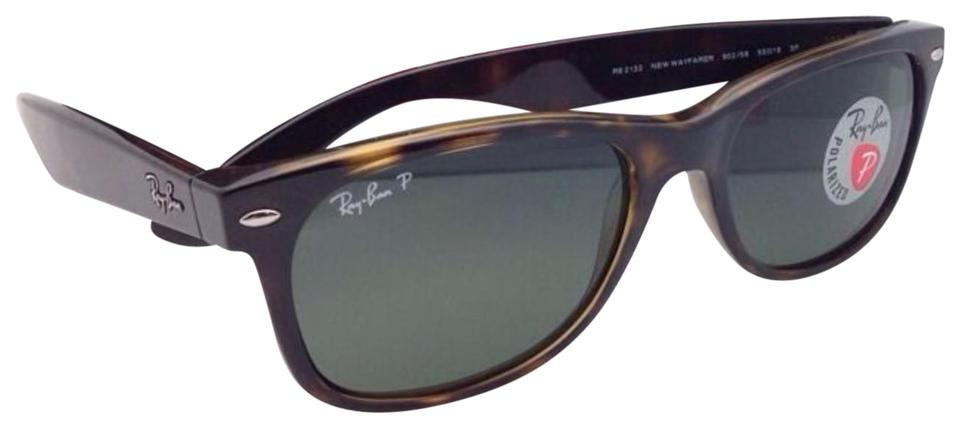 f39ae80732 Ray-Ban Rb 2132 902 58 New Wayfarer Havana W Green Lenses Polarized ...