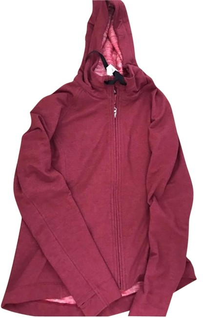Item - Maroon Flared Zip Up Jacket Activewear Outerwear Size 6 (S, 28)
