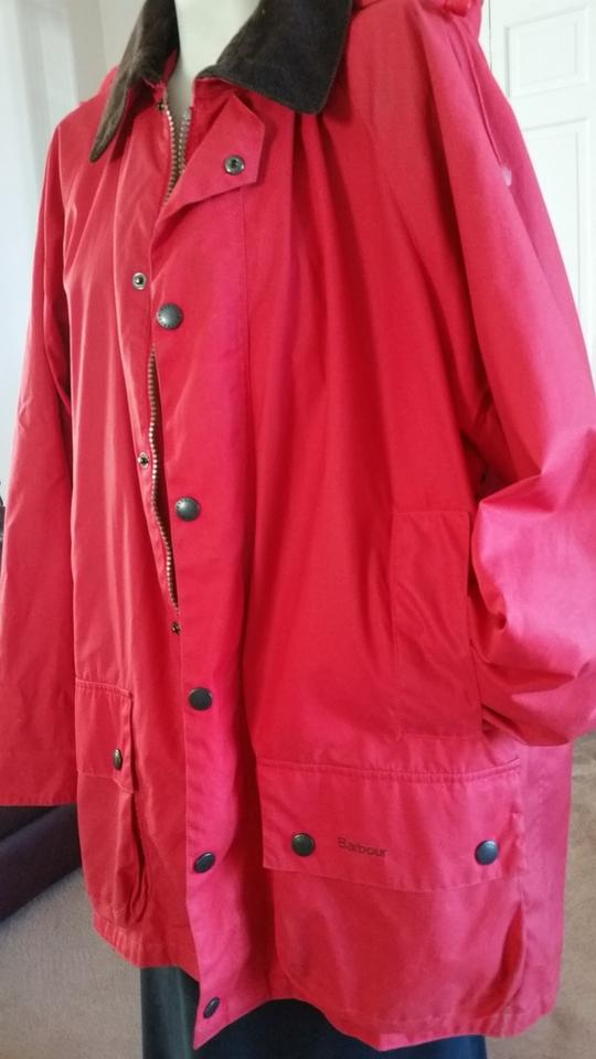 ec2cfecbc38 Barbour Red A452 Summer Beaufort Jacket Size 12 (L) - Tradesy