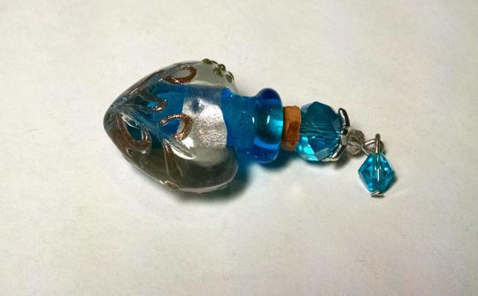 Other New Blown Glass Perfume Bottle Pendant Necklace 925 Silver Chain 18 Inch J792