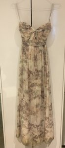 BHLDN Blush Multi/Floral Polyester; Polyester Lining Annabelle Modern Bridesmaid/Mob Dress Size 6 (S)