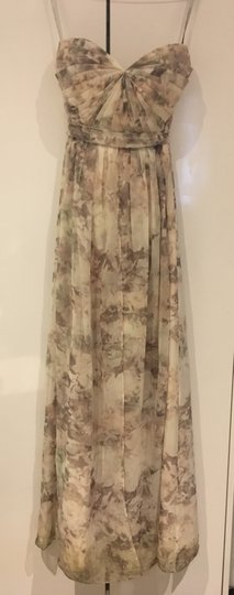 BHLDN Blush Multi/Floral Polyester; Polyester Lining Annabelle Modern Bridesmaid/Mob Dress Size 6 (S) Image 1