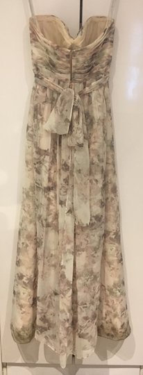 BHLDN Blush Multi/Floral Polyester; Polyester Lining Annabelle Modern Bridesmaid/Mob Dress Size 6 (S) Image 2
