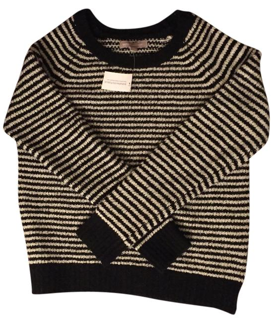 Preload https://item5.tradesy.com/images/banana-republic-navy-and-white-stripe-sweaterpullover-size-6-s-2252449-0-1.jpg?width=400&height=650